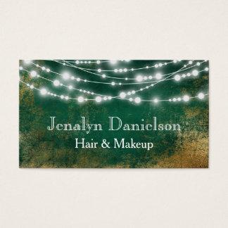 Luces colgantes festivas elegantes de la secuencia tarjeta de visita