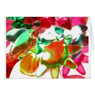 Luces coloreadas tarjeta de felicitación