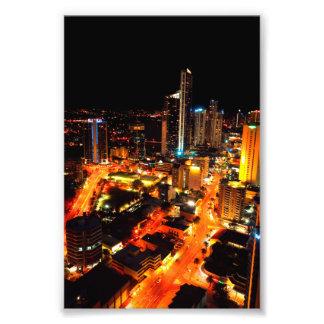 Luces de la ciudad de Gold Coast Australia del par Fotografías