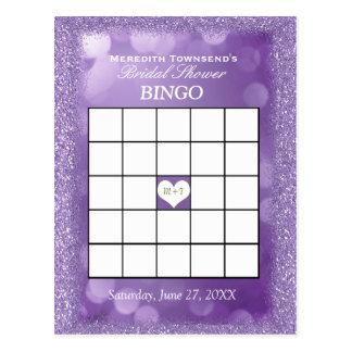 Luces de la lavanda de la tarjeta el | del bingo postal