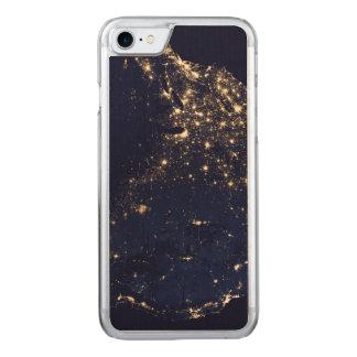 Luces de la NASA del espacio los E.E.U.U. Funda Para iPhone 7
