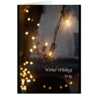 Luces de la tarjeta de Navidad
