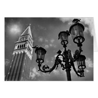Luces de la torre y de calle de Venecia San Marco Felicitacion