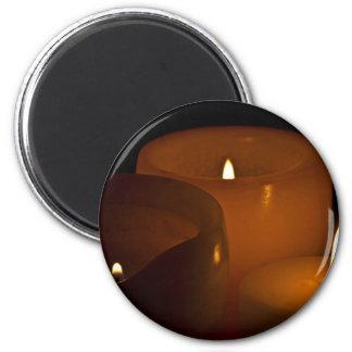 Luces de la vela imán redondo 5 cm