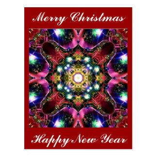 Luces de las Felices Navidad Postal