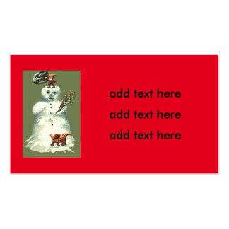Luces de navidad de los duendes del navidad del tarjetas de visita