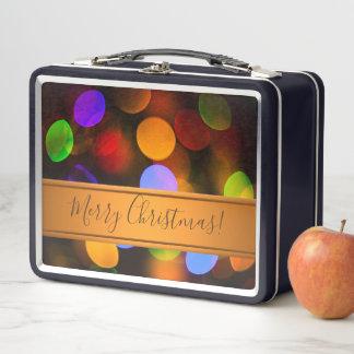 Luces de navidad multicoloras. Añada el texto o