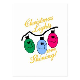 Luces de navidad postal