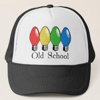 Luces del árbol de navidad de la escuela vieja gorra de camionero