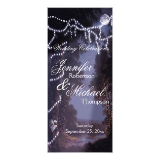 Luces del árbol del programa el | del boda folleto publicitario 10 x 22,8 cm