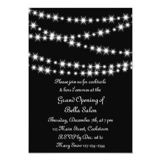 Luces del centelleo de la gran inauguración invitación 12,7 x 17,8 cm