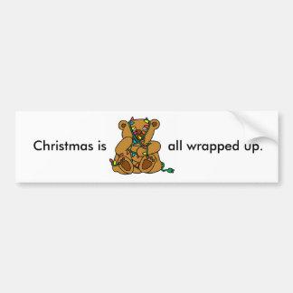 Luces del oso del navidad pegatina para coche