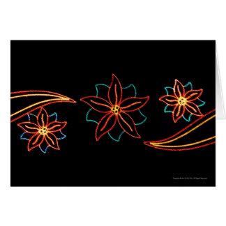 Luces del Poinsettia Tarjeta De Felicitación