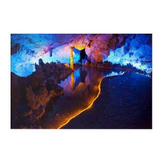 Luces en la cueva de lámina de la flauta, China Impresión Acrílica