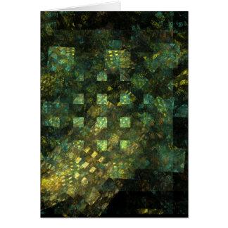 Luces en la tarjeta de felicitación del arte