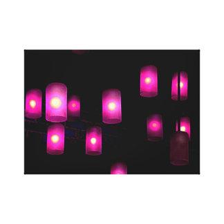 Luces púrpuras lienzo