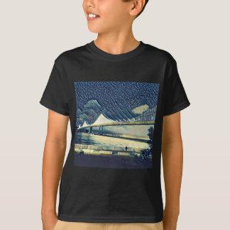 Luces románticas del puente del San Francisco Bay Camiseta
