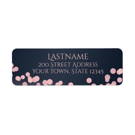 Luces rosa de la chispa y dirección de los azules etiqueta de remitente