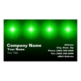 luces verdes 3D Tarjeta De Visita