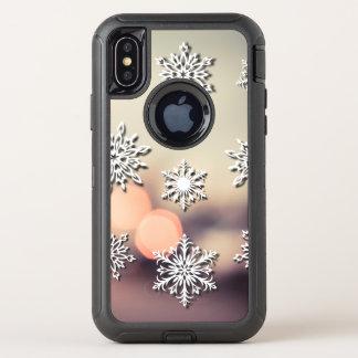 Luces y copo de nieve de navidad