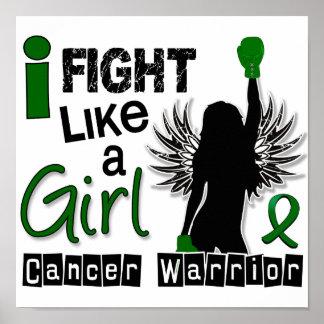 Lucha como un cáncer de hígado del chica 26 2 posters