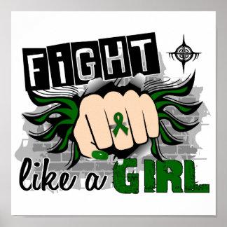 Lucha como un cáncer de hígado del chica 27 8 impresiones
