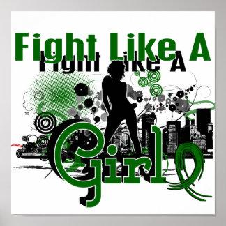 Lucha como un cáncer de hígado del chica 30 8 impresiones