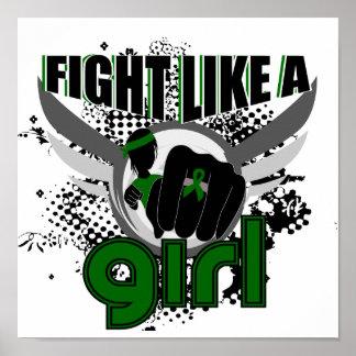 Lucha como un cáncer de hígado del chica 33 8 poster