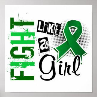 Lucha como un cáncer de hígado del chica 36 8 posters