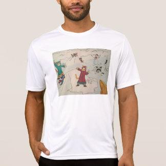 Lucha de la bola de nieve camiseta