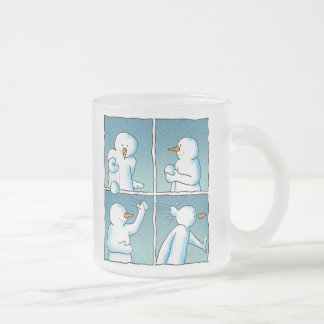 Lucha de la bola de nieve taza de café esmerilada