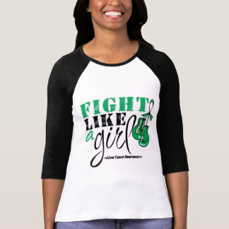 Lucha de la conciencia del cáncer de hígado como camiseta