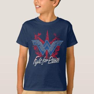 Lucha de la Mujer Maravilla para el símbolo de paz Camiseta