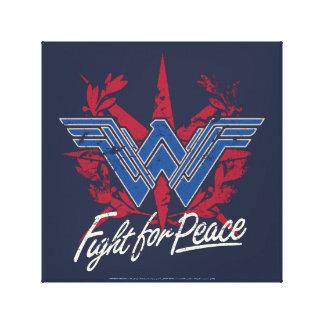 Lucha de la Mujer Maravilla para el símbolo de paz Impresión En Lienzo