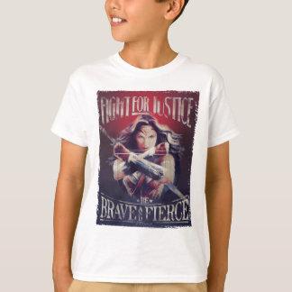 Lucha de la Mujer Maravilla para la justicia Camiseta