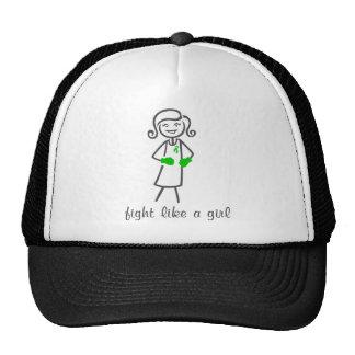 Lucha de la neurofibromatosis como un chica (retro gorras de camionero