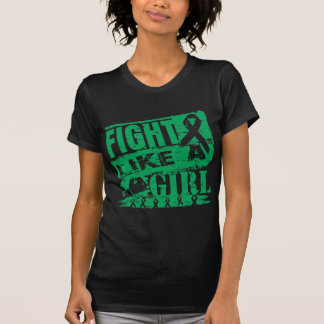 Lucha de la quemadura del cáncer de hígado como un camiseta