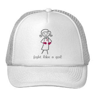 Lucha de las adherencias como un chica (retro) gorros bordados
