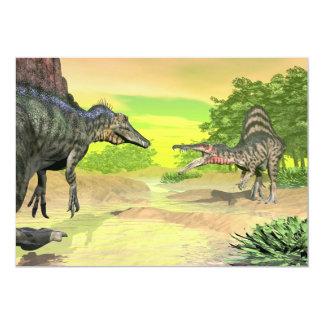 Lucha de los dinosaurios de Spinosaurus - 3D Invitación 12,7 X 17,8 Cm