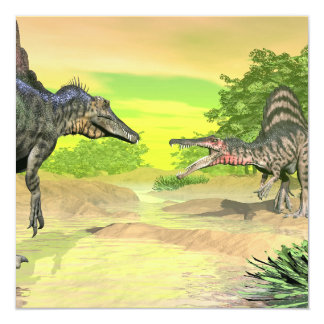 Lucha de los dinosaurios de Spinosaurus - 3D Invitación 13,3 Cm X 13,3cm