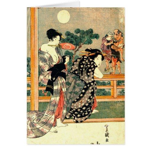 Lucha de sumo - díptica 1818 de la Luna Llena deja Tarjetón