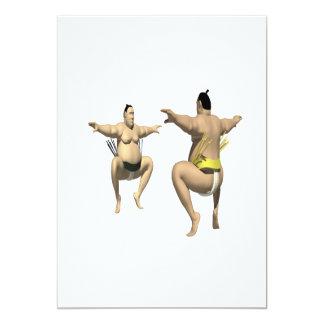 Lucha de sumo invitación 12,7 x 17,8 cm
