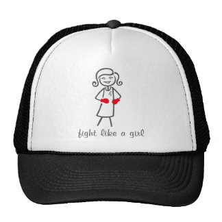 Lucha del cáncer de cerebro como un chica (retro) gorra