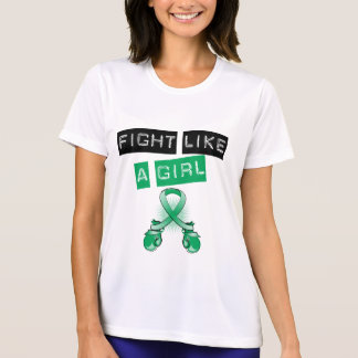 Lucha del cáncer de hígado como un chica camiseta
