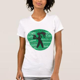 Lucha del cáncer de hígado como un collage del camiseta