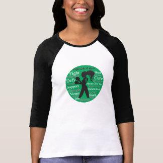 Lucha del cáncer de hígado como un collage del camisetas