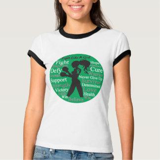 Lucha del cáncer de hígado como un collage del gue camisetas