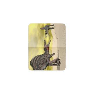 Lucha del dinosaurio de Spinosaurus - 3D rinden Tarjetero
