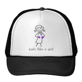 Lucha del Fibromyalgia como un chica (retro) Gorras