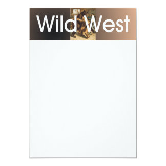 Lucha del oeste salvaje de la CAMISETA Invitación Personalizada